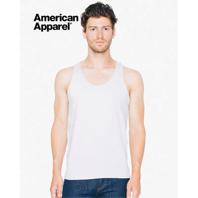 American Apparel Unisex Fine Jersey Tank White